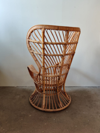 Vintage XL rotan fauteuil