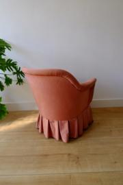 Vintage roze cocktail stoel