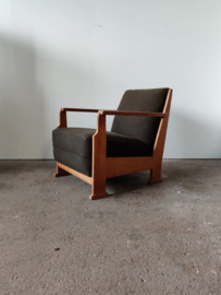 Oude Amsterdamse school stijl fauteuil