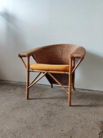Vintage fauteuil rotan