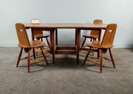 Vintage eettafel met stoelen door Eero Aarnio voor Laukaan Puu Finland