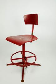 Rode Friso Kramer bureau stoel