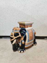 XL keramieken olifant als planten/bijzettafel