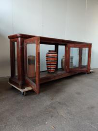 Oude winkelkast, toonbank, vitrinekast 245 cm
