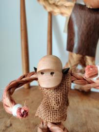 Set vintage Kay Bojesen sisal apen