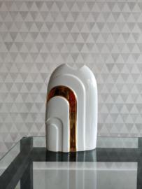 Gerold Porzellan vaas, wit met goud
