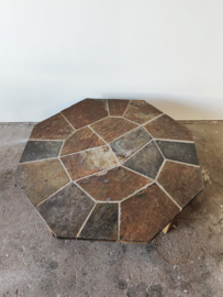 Vintage salontafel met mosaic blad