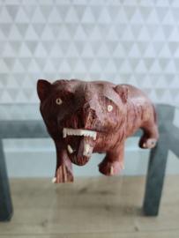 Vintage houten leeuw