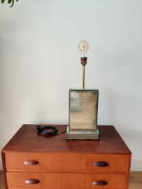 Tafellamp met spiegels bekleed