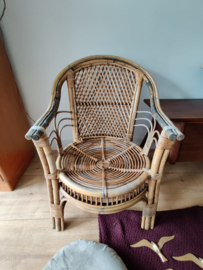 Set vintage rotan stoelen