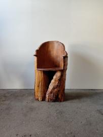 Vintage Scandinavische  boomstam stoel