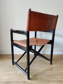 Vintage deense director chair met tuigleer