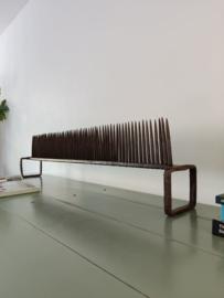 Brutalist smeedijzeren 142cm lang object