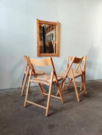 Vintage spiegel in pine lijst