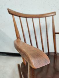 Schommelstoel  spijlstoel in stijl van Pastoe