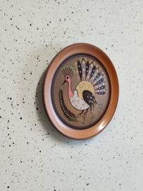 Set van twee vintage borden met vogels