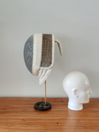 Vintage scherm masker op standaard