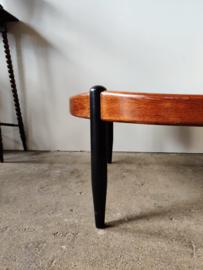 Vintage salontafel rond 100x45cm