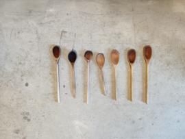 Vintage verzameling houten lepels