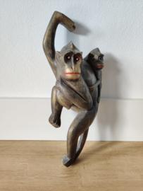 Vintage houten hang aap