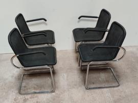 Set van 4 buisframe stoelen