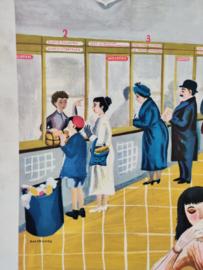 Vintage PTT postkantoor tijd