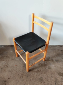 Ate van Apeldoorn stoel, zwart tuigleer