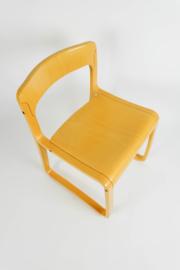 Vintage Italiaanse houten stoel