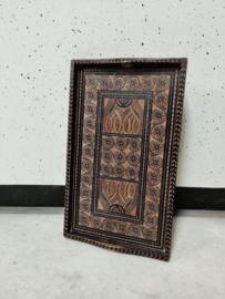 Vintage dienblad houtsnijwerk