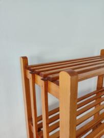 Vintage houten stelling kast