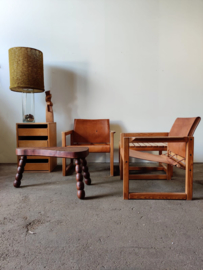 Vintage houten organische salontafel