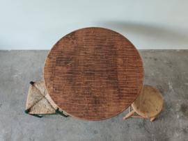 Vintage ronde eettafel