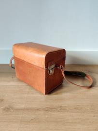 Vintage cognac leren Hasselblad camera koffer