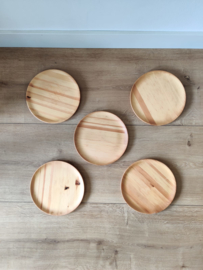 Set van 5 vintage houten borden