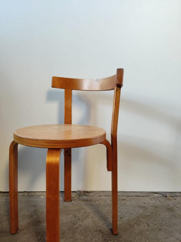 Vintage houten stoel