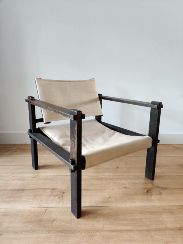 Vintage Gerd Lange safari chair