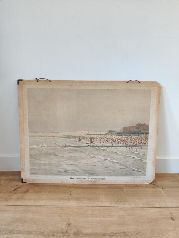 Vintage kaart Scheveningen pier met Kurhaus