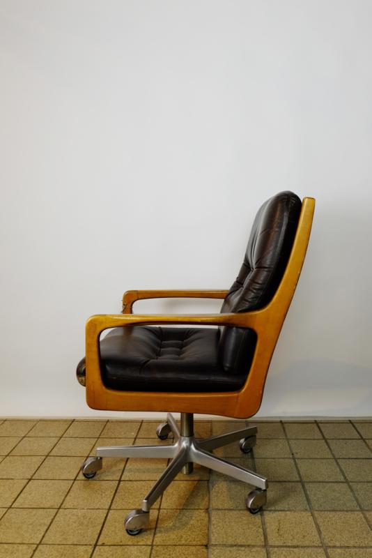 Vintage deense bureau fauteuil
