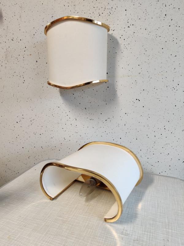 Vintage messing wandlampen ALTO