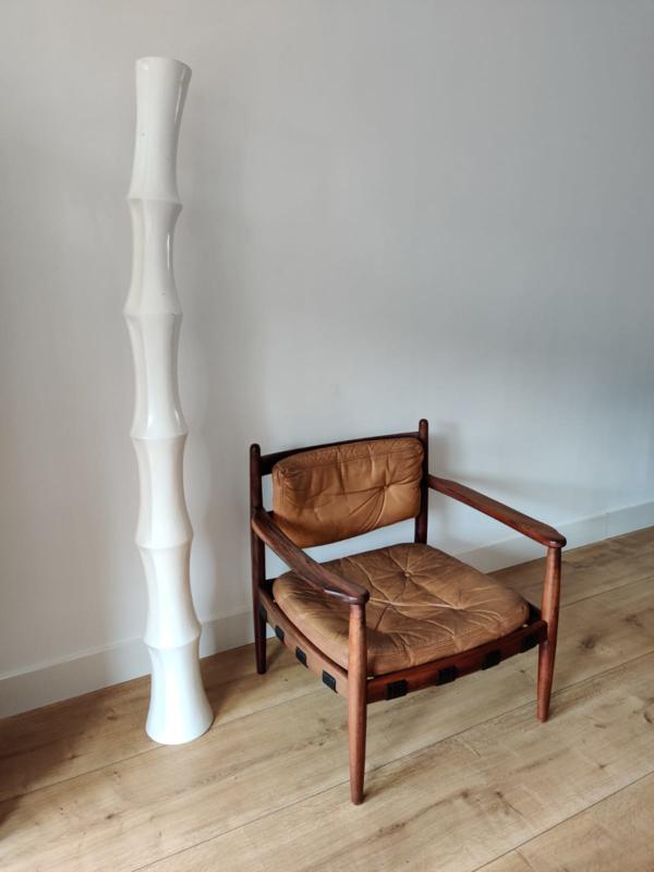 Vintage fiberglass bamboe vaas / object
