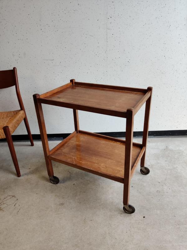 Vintage bijzettafel / cart