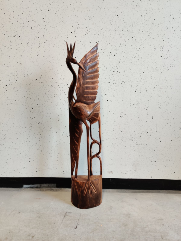 Grote vintage houten vogel