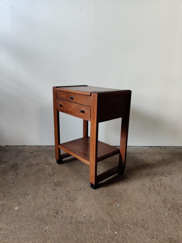 Amsterdamse school klep tafel/kastje