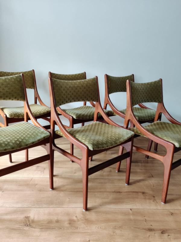 Zes vintage stoelen, model als  Louis van Teeffelen / Vestervig Eriksen