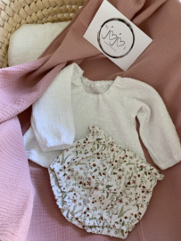 Blouse off-white broderie