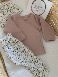 Overslag shirtje nude roze