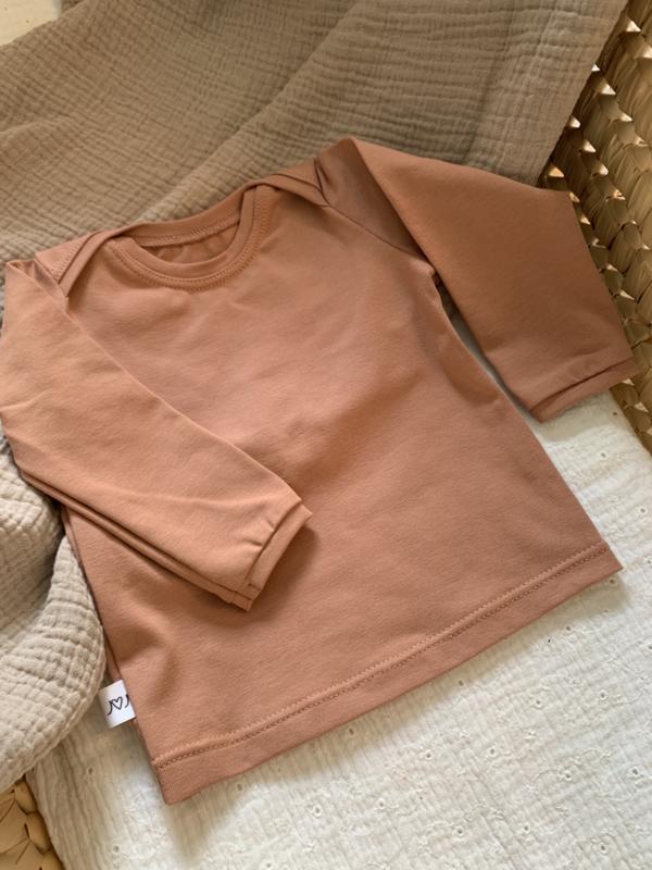 Shirt envelophals peach