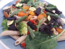 Biologische veganistische maaltijdsalade