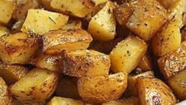 Gebakken biologische aardappels