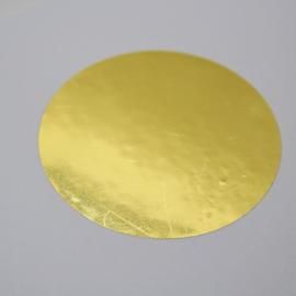 Spiegelgouden sticker 43 mm, 100st